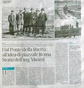 01 LA NUOVA VENEZIA 27.8.2019 ing. Eugenio Miozzi film mostra del cinema - Ordine INgegneri Venezia