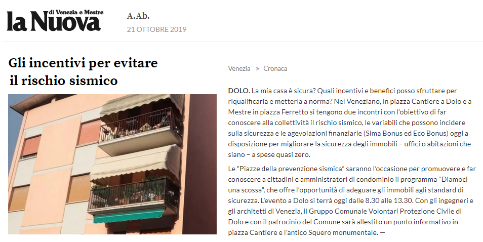 01 21.10.2019 La Nuova Rischio sismico prevenzione - Ordine Ingegneri Venezia.png