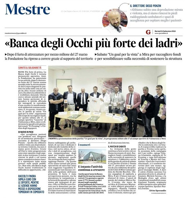 011 24.09.2019 IL GAZZETTINO partita di calcio Ordine Ingegneri Venezia, giornalisti a Mira - Fondazione Banca degli Occhi Mestre.jpg