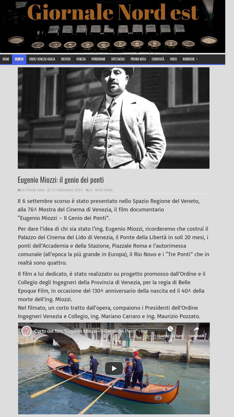 013 13.09.2019 - GNE Giornale Nord Est - ing. Eugenio Miozzi film mostra del cinema - Ordine INgegneri Venezia.png