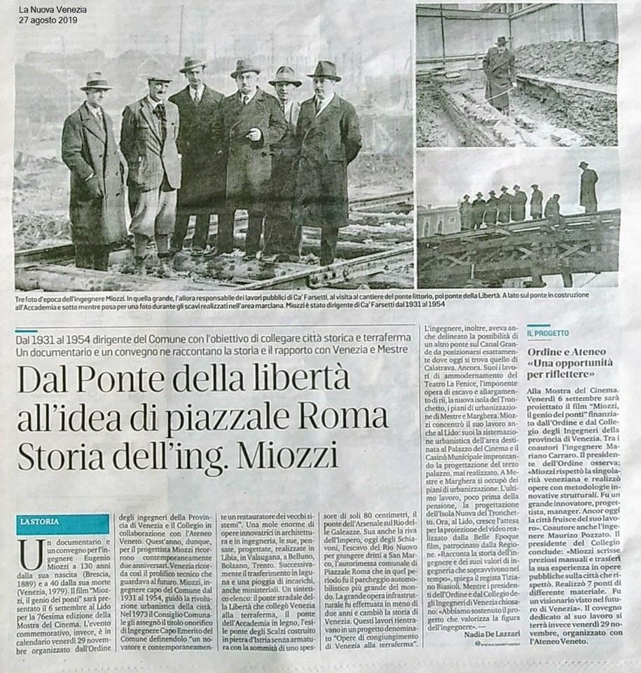 017 27.08.2019 LA NUOVA VENEZIA ing. Eugenio Miozzi film mostra del cinema - Ordine INgegneri Venezia.jpg