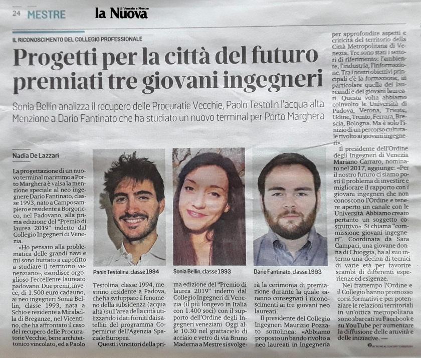 08 05.10.2019 - La Nuova Venezia - Premio di Laurea 2019 Collegio e Ordine Ingegneri Venezia.jpg