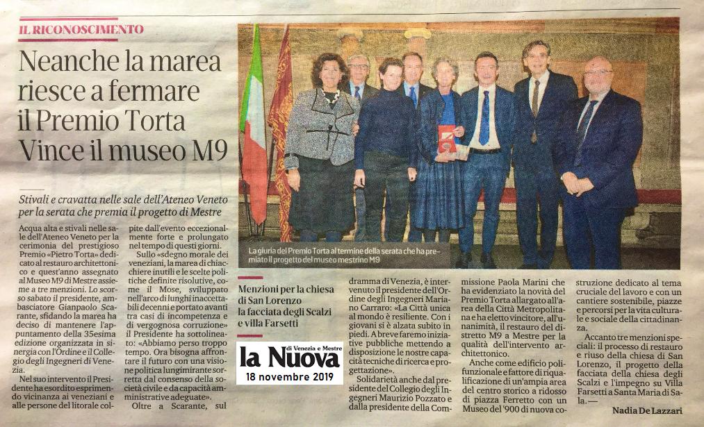 18.11.2019 La Nuova Venezia - Premio Torta.png