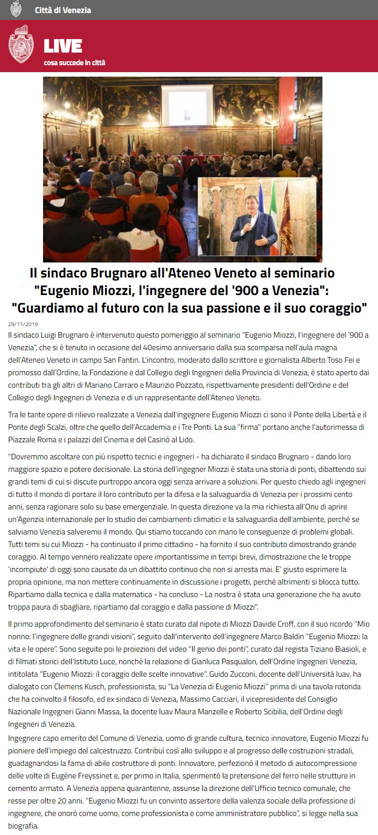 29.11.2019 LIVE cosa succede in città - comune di venezia - seminario eugenio miozzi - ingegneri ateneo veneto.png