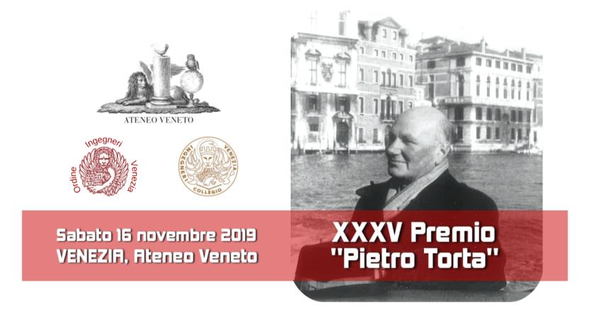 LOGO 04 banner XXXV Premio Pietro Torta 2019 Ateneo Veneto Ordine Ingegneri Venezia Collegio Inegneri Venezia Mariano Carraro Murizio Pozzato
