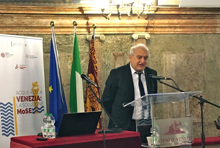 012 Convegno Acque Alte a Venezia la soluzione MoSE - 8 febbraio 2020 CNI Ordine e Collegio Ingegneri Venezia FOIV in Ateneo Veneto