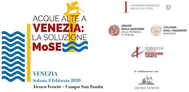 banner Convegno acque alte a Venezia, 8 febbraio 2020