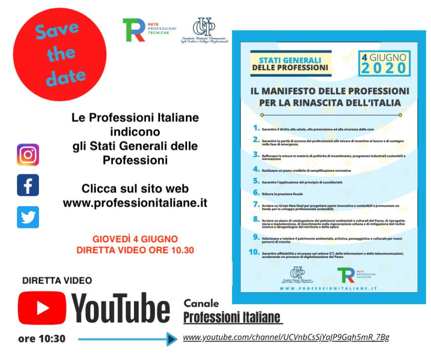 manifesto delle professioni italiane cup rtp - ordine ingegneri venezia