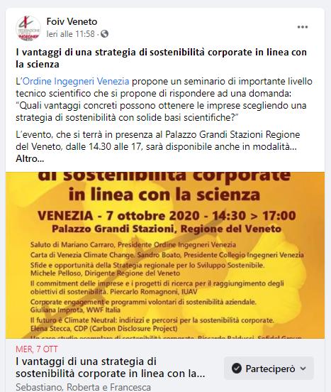 07 FOIV - Ordine Ingegneri Venezia - sviluppo sostenibile 2020