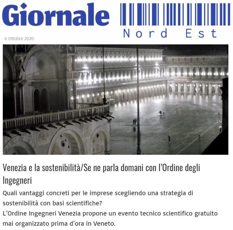 giornale nord est - sviluppo sostenibile - 7 ottobre 2020 - orfine ingegneri venezia